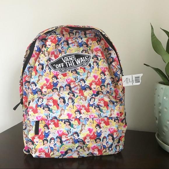 bbeceecb553b68 NWT Vans Disney multi princess backpack brand new.  M 5b5f64bb81bbc8144ea7d4bf